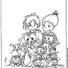 أطفال وسط قطط