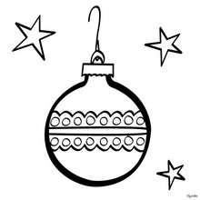 صفحة تلوين كرة عيد الميلاد