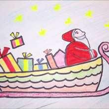 كيفيّة رسم عربة الميلاد