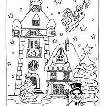 صفحة تلوين قرية الميلاد