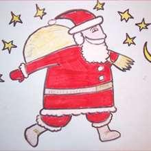 كيفيّة رسم بابا نويل مع هدايا الميلاد