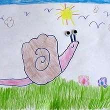 كيفيّة رسم حلزون بيدك