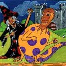ساحرة ووحش هالويين