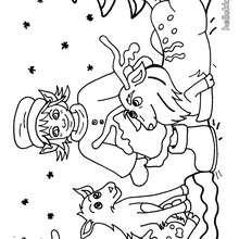 صفحة تلوين جنّي ورنّة الميلاد