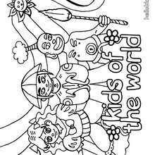 صفحة تلوين أطفال من العالم