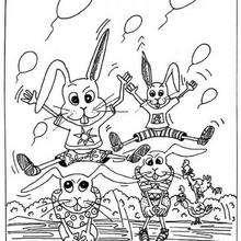 صفحة تلوين أرانب