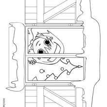 صفحة تلوين نافذة الميلاد