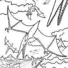 صفحة تلوين الزواحف الطّائرة
