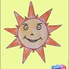 كيفيّة رسم شمس تبتسم