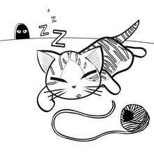 صفحة تلوين قطّة صغيرة جميلة