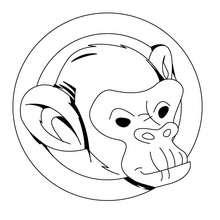 صفحة تلوين رأس القرد