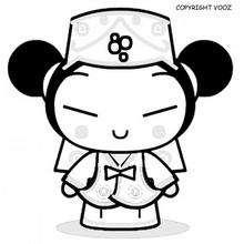 صفحة تلوين بوكا الممرضة