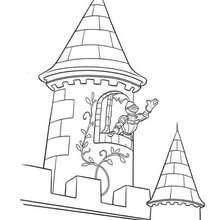صفحة تلوين - قلعة قديمة- صغار آينشتاين
