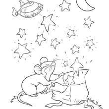 صفحة تلوين فأر صغير- وصغار أينشتاين