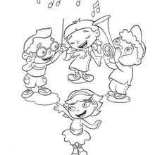 صفحة تلوين صغار أينشتاين الموسيقيين