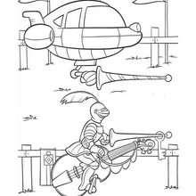 صفحة تلوين مركبة فضائيّة