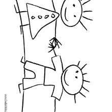 صفحة تلوين رسم أطفال