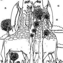 صفحة تلوين زرافة على شكل وحش