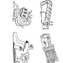 صفحة تلوين مخلوقات هالويين