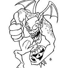 صفحة تلويين وحش هالويين