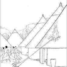 صفحة تلوين قرية كيريكو