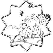 صفحة تلوين ماي ليتل بوني وسلحفاة