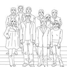 صفحة تلوين صورة لصف في المرحلة الثّانويّة