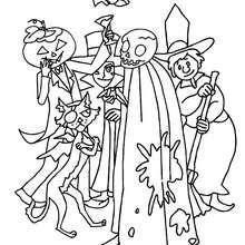 صفحة تلوين وحوش هالويين المضحكة والمخيفة