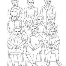 صفحة تلوين رسم المدرسة الابتدائية