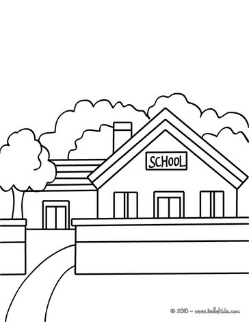 صفحة تلوين مدخل مدرسة