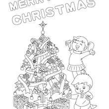 صفحة تلوين بوستر عن هدايا عيد الميلاد