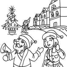 صفحة تلوين قرية بابا نويل