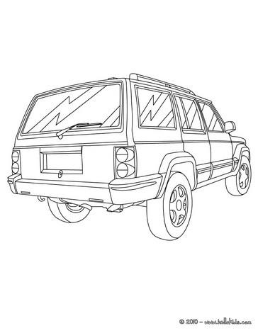 صفحات تلوين سيّارات صفحة تلوين سيّارة عائليّة