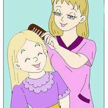 أمّ مع ابنتها