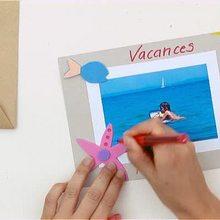 كيفيّة القيام ببطاقة بريديّة عن العطلة على الشّاطئ