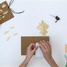 كيفيّة القيام بعصفور ثلاثيّ الأبعاد على بطاقة بريديّة