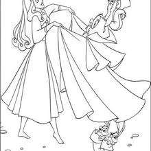 الأميرة أورورا وأصديقاؤها الحيوانات