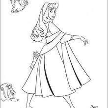 الأميرة أورورا مع الحيوانات