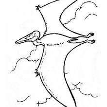 صفحة تلوين طائر ما قبل التّاريخ يحلّق