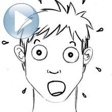 رسم تعبيرات الوجه: مفاجأة