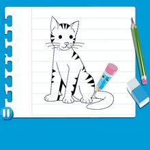درس فيديو حول كيفيّة رسم قطّ
