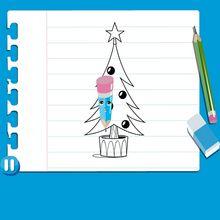 كيفيّة رسم شجرة الميلاد