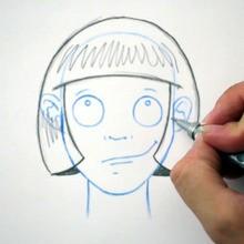 رسم تصفيفة الشعر: الساحة
