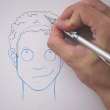 رسم تصفيفة الشعر: مجعد