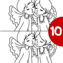 لعبة كشف فارق بين رسمي ملاكين على سحابة