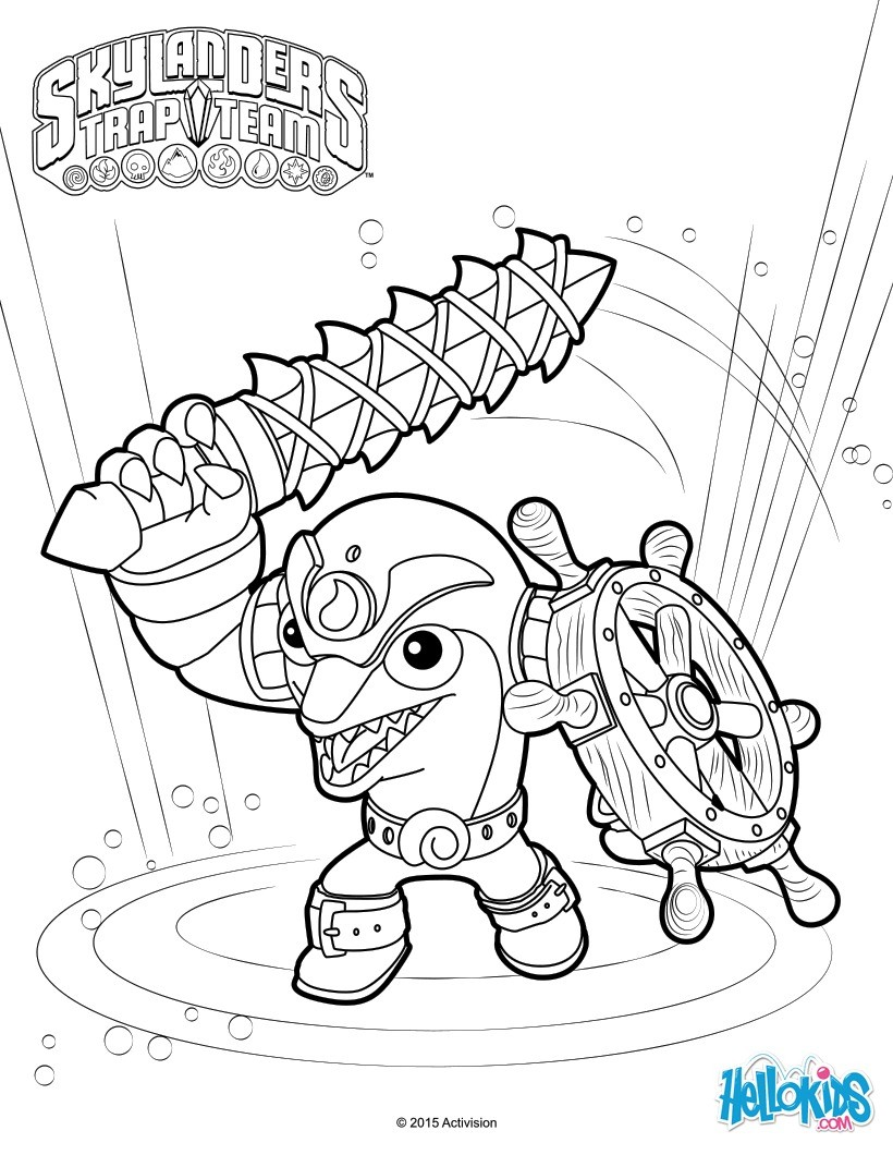 skylanders coloring pages all right reserved skylanders trap team flip wreck ak74 - Skylanders Coloring Pages Jet Vac