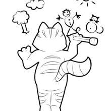 رسم القط