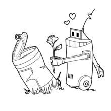 الروبوت وتبقي