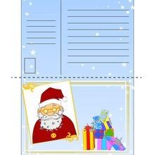 سانتا تصميم بطاقة بريدية