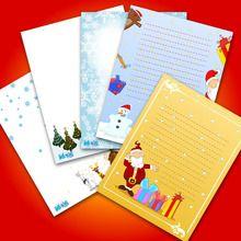 رسائل قالب لسانتا كلوز في الطباعة